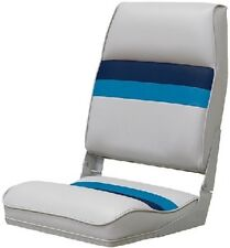 New Deluxe Pontoon Furniture wise Seating 8wd434ls-1011 High Back Boat Seat Grey