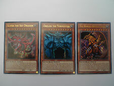 Slifer + Obelisk + Ra * Ultra Rare LDK2 Playable God Card Set * Yu-gi-oh