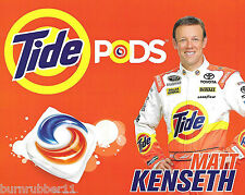 "2016 MATT KENSETH ""TIDE DARLINGTON THROWBACK"" #20 NASCAR SPRINT CUP POSTCARD"