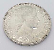 1931 LATVIA SILVER 5 LATI COIN