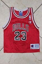 Vintage Chicago Bulls Champion Kids Baby Jersey #23 Red Black White NBA sz M 5-6