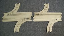 Tyco US1 Electric Trucking custom double turnout slot car track 2 EACH
