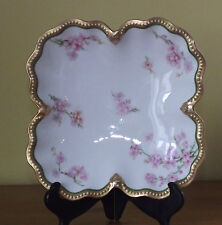 Antique A Lanternier Limoges Floral Bowl ~ Made for Maples & Co London (L56,35)