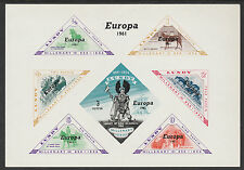 Lundy (743) 1961 EUROPA sheet with Variety u/m