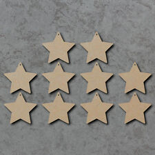 Star Rounded Corners x10 - Wooden Christmas Laser Cut mdf Craft Blanks / Shapes