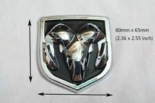 NEW Dodge Ram Glossy Ram Head Tailgate Chrome Emblem 1500-3500 Decal Badge SMALL