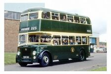 pt6884 - Chesterfield Bus no 225 at Depot in 1982 , Derbyshire - photo 6x4