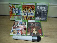 WIRELESS LIPS XBOX 360 MICROPHONE+5 MIC GAMES!=X-FACTOR+LIPS+BAND HERO+BEATLES