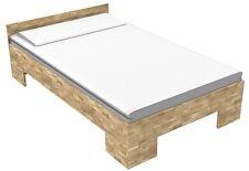 27mm Bett massiv Echtholzbett Massivholzbett 90x220 Einzelbett Fuß II  Kerneiche