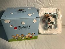 SNOOPY GONE FISHING WITH LETTER F FIGURINE #8576 UPC,748787085765 NEW IN BOX