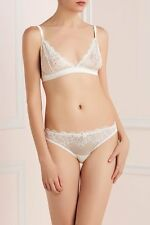 MIMI HOLLIDAY MR WHIPPY SILK LACE WIRELESS BRALETTE BRA WHITE AW14-132 SMALL $80