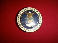 USAF Metal Badge UNITED STATES AIR FORCE RECRUITING SERVICE Made In USA