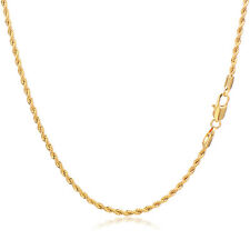 Fashion Mens Womens Chain Rope Necklace Vintage Yellow Gold Filled 23.6in