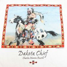 NEW DAKOTA CHIEF NATIVE AMERICAN INDIAN ART by CHARLES MARION RUSSELL T SHIRT L