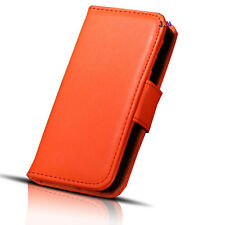 iPhone 4 Flip PU Soft Leather Wallet Pocket Case Cover Orange