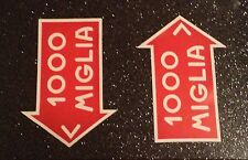 PAIR of 1000 MILLE MIGLIA HANDED STICKERS DECAL RALLY GP  CLASSIC MOTORSPORT