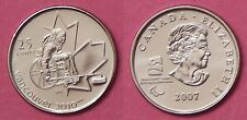 Brilliant Uncirculated 2007 Canada Wheelchair Curling 25 Cents From Mint's Roll