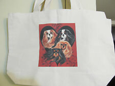 Huge Tote Bag Colors Of The Heart  Cavalier King Charles Spaniel