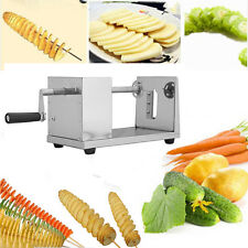 Stainless Tornado Potato Spiral Slicer Cutter Manual French Fry Vegetable Cutter