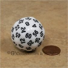 NEW White D60 Sixty Sided Dice D&D RPG Game Koplow Random Time Seconds Minutes
