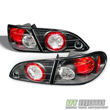 Black 4Pcs Set 1998-2002 Toyota Corolla CE LE VE S Tail Lights Brake Lamps Pair
