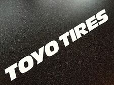 TOYO TIRES  XXL Size Matte White Track Car Sticker 100cm - SPEEDHUNTERS  Look!