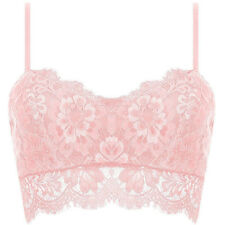 Lady Lace Crochet Floral Bralette Bra Bustier Crop Top Tube Cami Tank Adjustable
