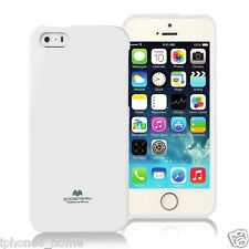 Genuine MERCURY Goospery White Soft Jelly Case Cover For Apple iPhone 5/5s & SE