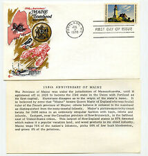 1391 Maine Statehood, Cover Craft Cachets, CCC, FDC