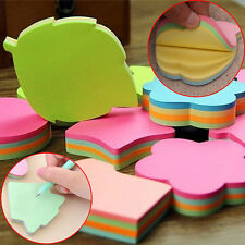 2Pcs Colorful Memo Pad Paper Sticker Sticky Notes Cute Post-it Notes Stationery
