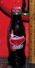 WORLD OF COCA COLA ATLANTA / LAS VEGAS 8OZ  WRAPPED COCA - COLA GLASS BOTTLE