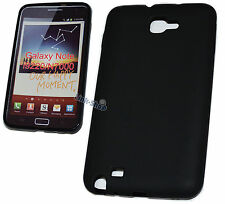 LINE Custodia Cover Nera in Silicone TPU Black per Samsung Galaxy Note N7000