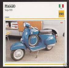 1965 Piaggio Vespa 90SS 89cc Scooter Moped Italy Motorcycle Photo Spec Info Card