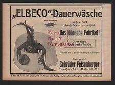 Frankfurt/M. berlín, publicidad 1913, hermanos feisenberger Elbeco-lavado de duración