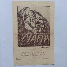 Programme Journée   UNC Loire inférieure NANTES juillet 1935 Parole La mAdelon