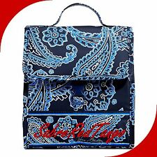 NWT VERA BRADLEY LUNCH SACK BREAK BAG TOTE FLORAL BLUE BANDANA