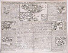 Antique map, Carte des iles & terres que les Anglois dans l'Amerique Septent.