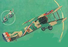 """Model Airplane Plans (UC): SPAD 1/12 Scale 26½"""" Biplane for .14-.29 (Musciano)"""