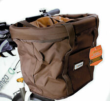 Avenir SoftSide Quick Basket Handlebar Handle Bar Bicycle Bike Bag Brown New