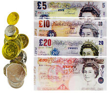 OFFERChildrens Kids Play Fake Pretend Money Role Shops Cash £ Pound Notes Coins