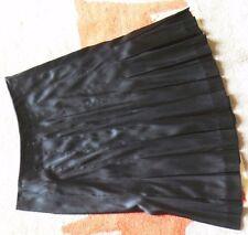 Martin & Osa Black Silk Stretch Pleated Skirt 0 MINT