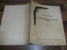 Dr. Rudolf Steiner -- SOZIALWISSENSCHAFTLICHE TEXTE // Dornach 1935