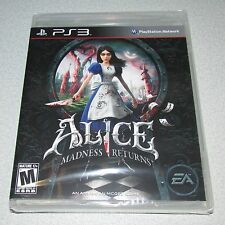 Alice Madness Returns for Playstation 3 Brand New! Factory Sealed!