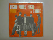 """BYRDS:Eight Miles High 3:35-Why? 2:58-Germany 7"""" 1966 CBS 2067 PSL"""