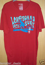 Old Navy LONGBOARD 1971 SURF SHOP Mens T-Shirt Tee LARGE Red NWT Surf Themed
