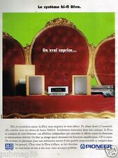 Publicité Advertising 1997 Chaine Hi-Fi Pioneer Diva