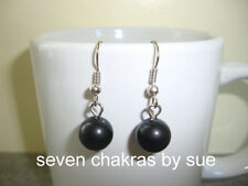 Feng Shui - 10mm Black Obsidian Earrings (Stainless Steel)