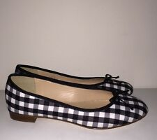 JCREW Kiki ballet flats in gingham 6 Shoes black white shoes e8462