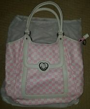 Sanrio Hello Kitty Large Pink Checkered Shoulder Purse Handbag NEW with dust bag