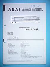 Service Manual-Istruzioni per AKAI cd-32, ORIGINALE